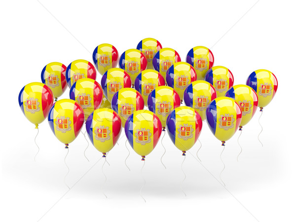 Ballons Flagge Andorra isoliert weiß Land Stock foto © MikhailMishchenko