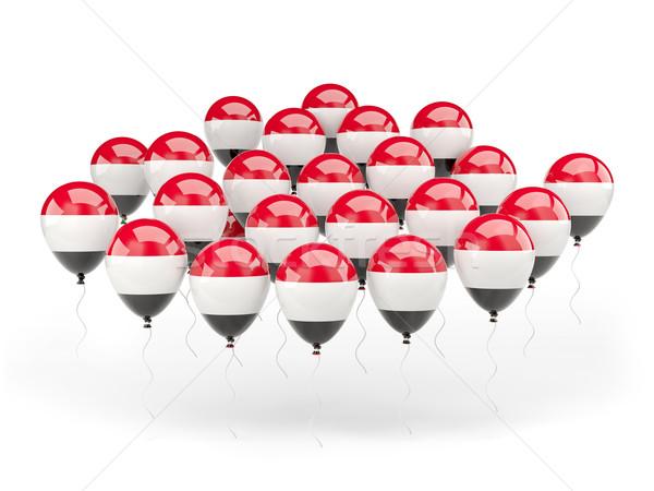 Balões bandeira Iémen isolado branco viajar Foto stock © MikhailMishchenko