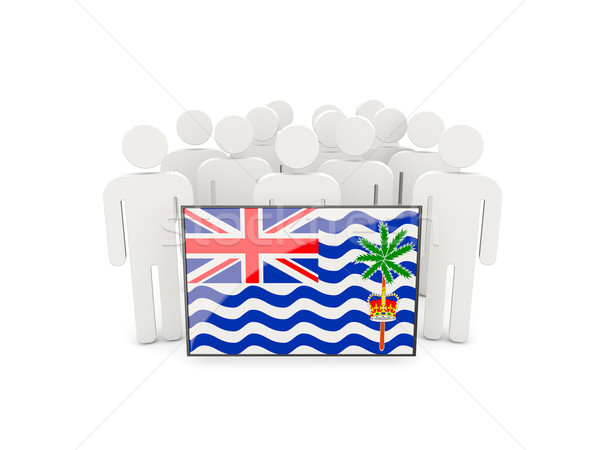 Stock photo: People with flag of british indian ocean territory