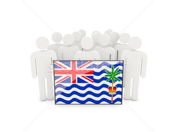 Emberek zászló brit indiai óceán terület Stock fotó © MikhailMishchenko