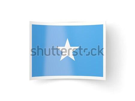 Placu naklejki banderą Panama odizolowany biały Zdjęcia stock © MikhailMishchenko