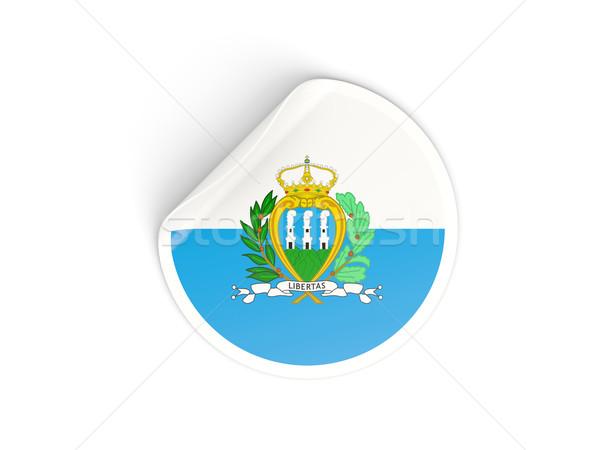 наклейку флаг Сан-Марино изолированный белый путешествия Сток-фото © MikhailMishchenko