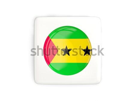 Round icon with flag of sao tome and principe Stock photo © MikhailMishchenko