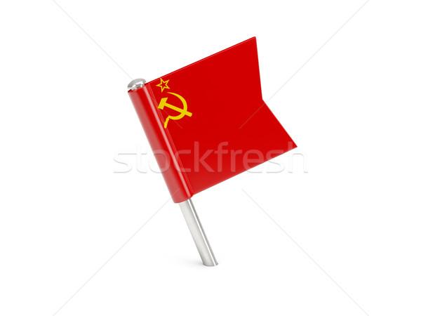 Bandiera pin urss isolato bianco viaggio Foto d'archivio © MikhailMishchenko