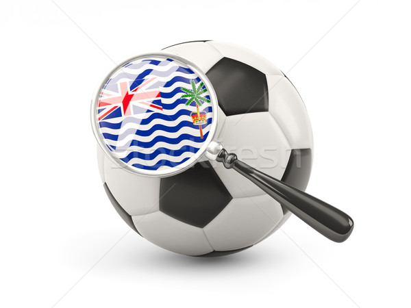 Football with magnified flag of british indian ocean territory Stock photo © MikhailMishchenko