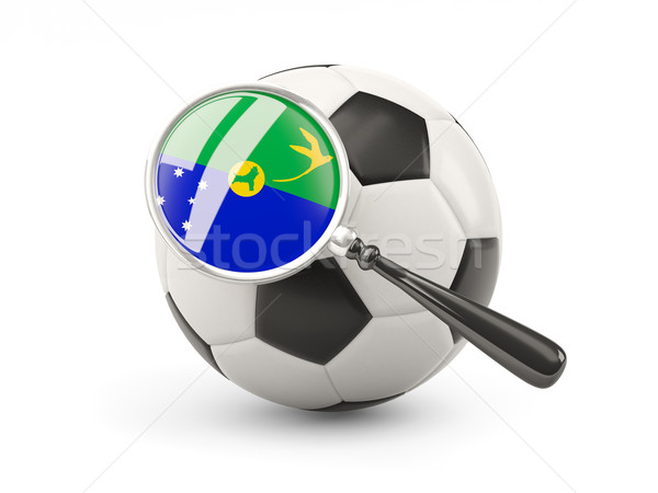 Football with magnified flag of christmas island Stock photo © MikhailMishchenko