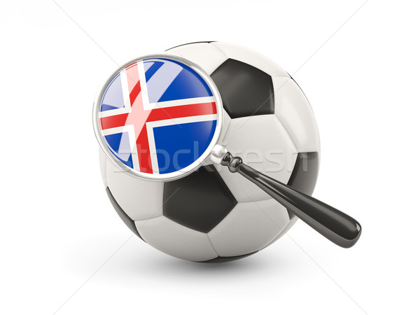 Football with magnified flag of iceland Stock photo © MikhailMishchenko