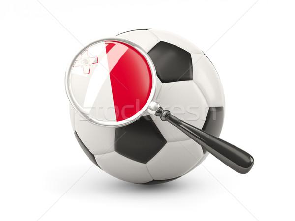 サッカー 拡大された フラグ マルタ 孤立した 白 ストックフォト © MikhailMishchenko