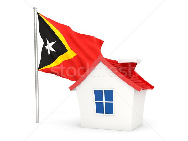 House with flag of east timor Stock photo © MikhailMishchenko