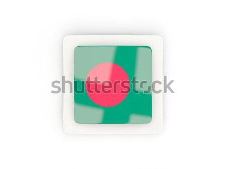 Tér ikon zászló Banglades izolált fehér Stock fotó © MikhailMishchenko