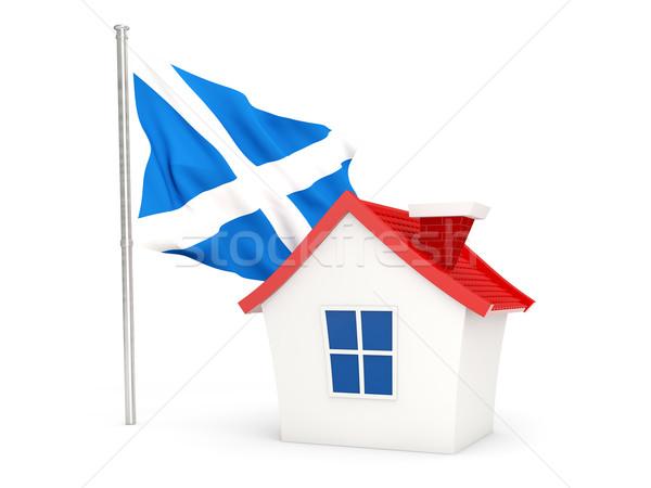 House with flag of scotland Stock photo © MikhailMishchenko