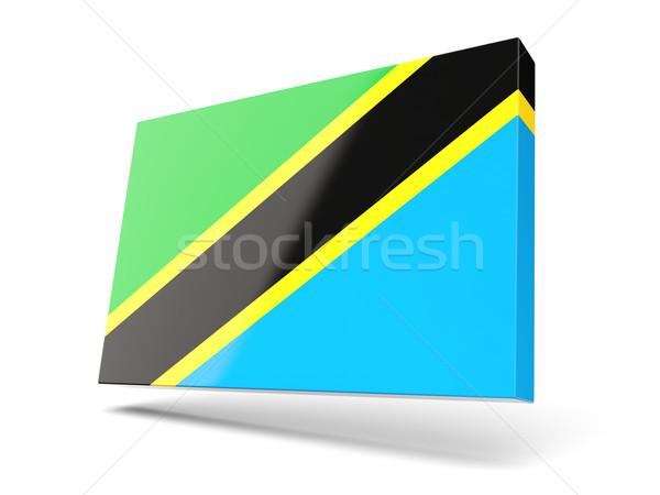 Platz Symbol Flagge Tansania isoliert weiß Stock foto © MikhailMishchenko