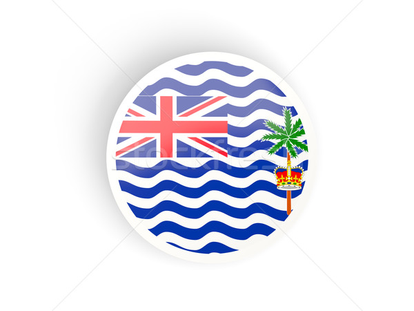 Sticker vlag brits indian oceaan gebied Stockfoto © MikhailMishchenko
