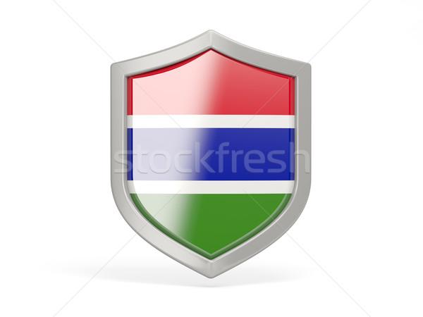 Shield icon with flag of gambia Stock photo © MikhailMishchenko