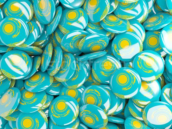 флаг Казахстан фон стране Pin круга Сток-фото © MikhailMishchenko