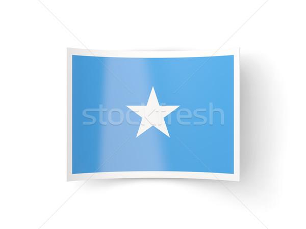 アイコン フラグ ソマリア 孤立した 白 国 ストックフォト © MikhailMishchenko