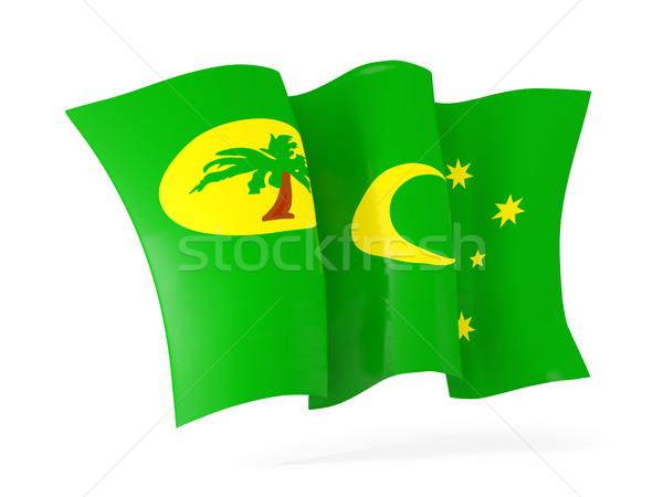 Waving flag of cocos islands. 3D illustration Stock photo © MikhailMishchenko
