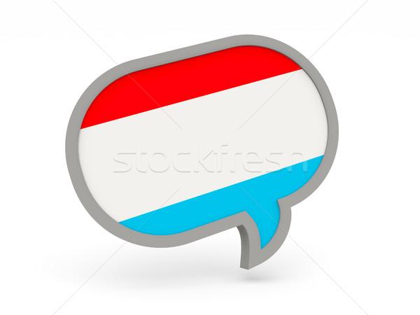 Chat ikon zászló Luxemburg izolált fehér Stock fotó © MikhailMishchenko