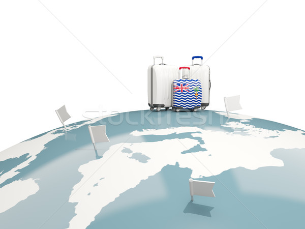 Luggage with flag of british indian ocean territory. Three bags  Stock photo © MikhailMishchenko