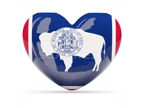 Flag of wyoming, US state heart icon Stock photo © MikhailMishchenko
