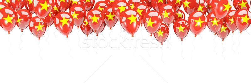 Balloons frame with flag of vietnam Stock photo © MikhailMishchenko