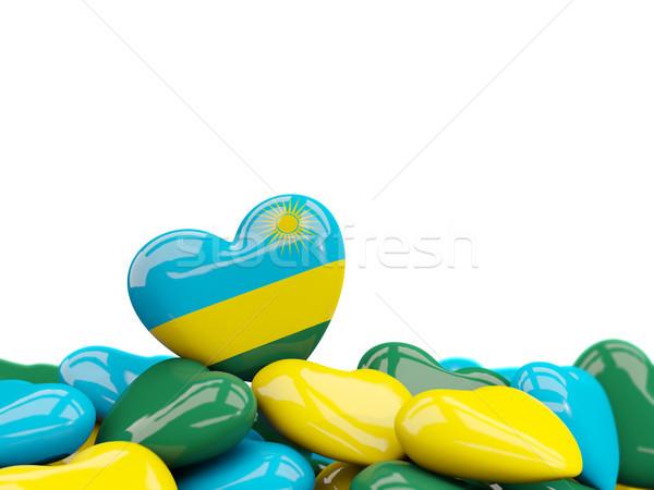 сердце флаг Руанда Top сердцах изолированный Сток-фото © MikhailMishchenko