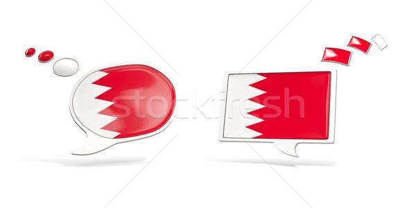 Dois conversar ícones bandeira Bahrein praça Foto stock © MikhailMishchenko