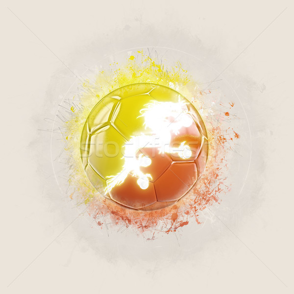 Grunge voetbal vlag Bhutan 3d illustration wereld Stockfoto © MikhailMishchenko