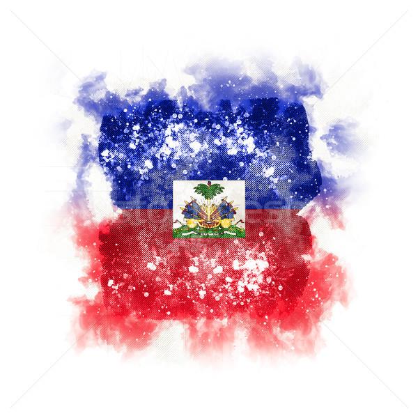Kare grunge bayrak Haiti 3d illustration Retro Stok fotoğraf © MikhailMishchenko