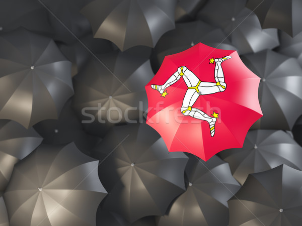 Umbrella with flag of isle of man Stock photo © MikhailMishchenko
