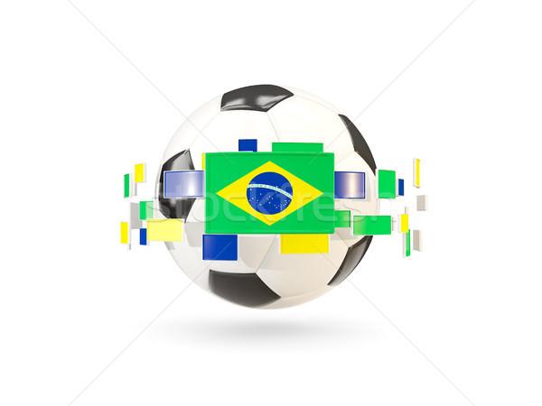 Voetbal lijn vlaggen vlag Brazilië Stockfoto © MikhailMishchenko