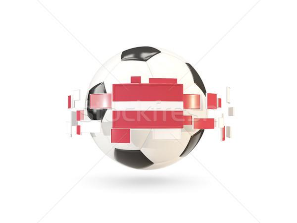 Balón de fútbol línea banderas bandera Letonia Foto stock © MikhailMishchenko