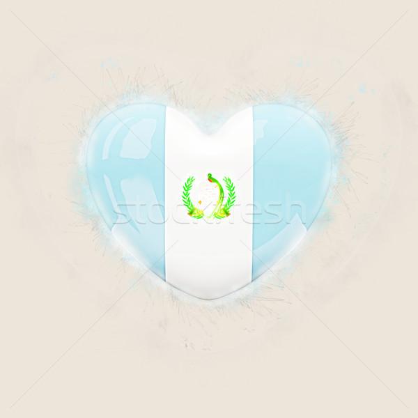 сердце флаг Гватемала Гранж 3d иллюстрации путешествия Сток-фото © MikhailMishchenko