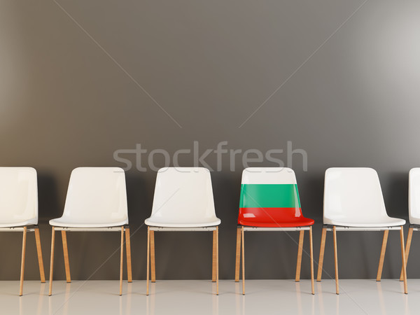 Chair with flag of bulgaria Stock photo © MikhailMishchenko