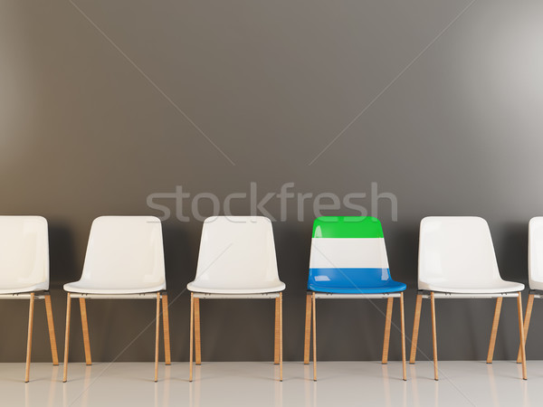 Chair with flag of sierra leone Stock photo © MikhailMishchenko