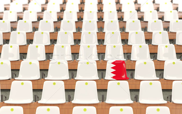 Estádio assento bandeira Bahrein branco Foto stock © MikhailMishchenko