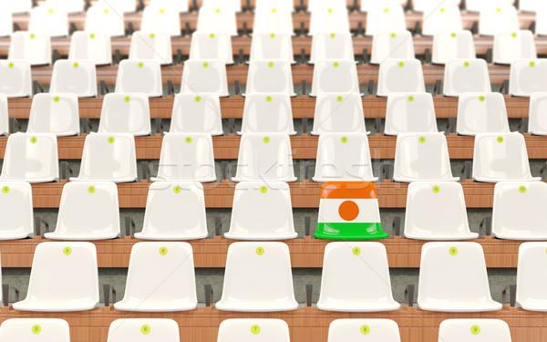 Estadio asiento bandera Níger blanco Foto stock © MikhailMishchenko