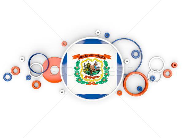 Stock fotó: Zászló · Nyugat-Virginia · körök · minta · Egyesült · Államok · helyi