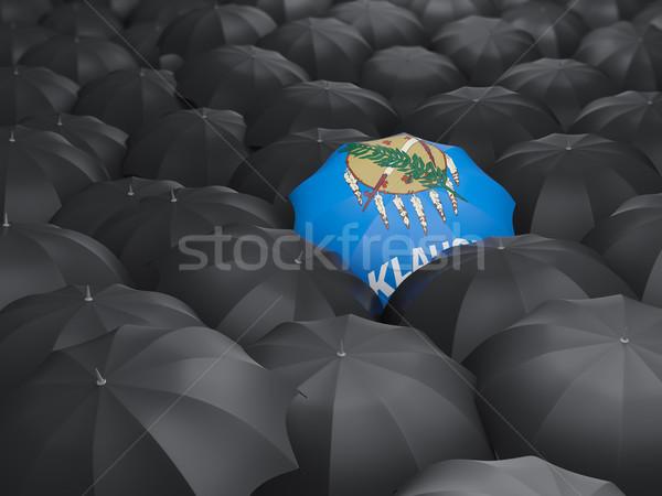 Oklahoma vlag paraplu Verenigde Staten lokaal vlaggen Stockfoto © MikhailMishchenko