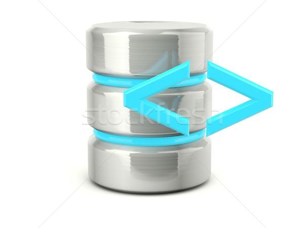 execute data base icon Stock photo © MikhailMishchenko