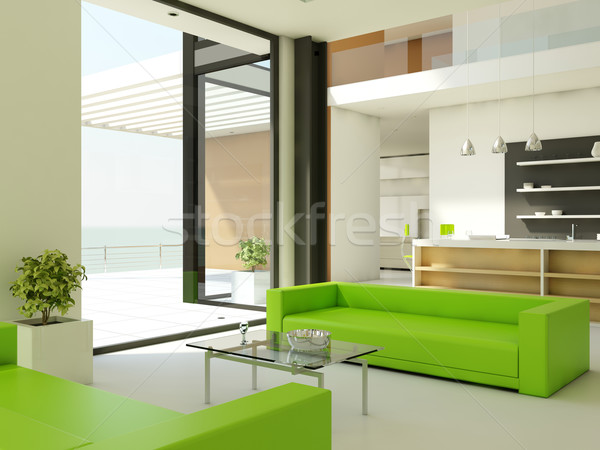 Light interior design Stock photo © MikhailMishchenko