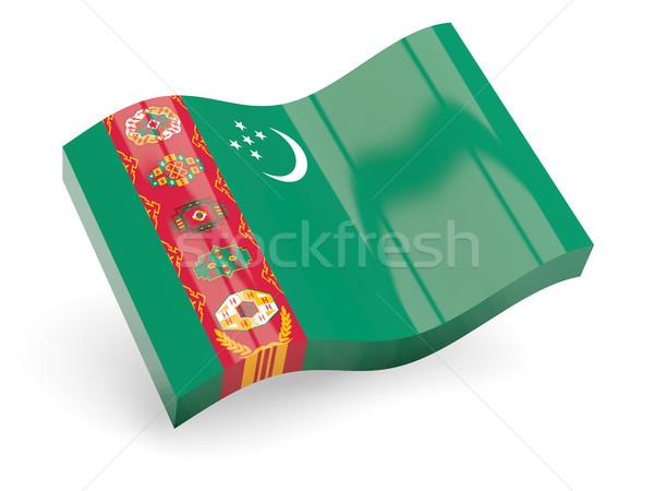 3D zászló Türkmenisztán izolált fehér utazás Stock fotó © MikhailMishchenko