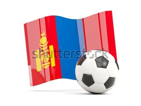 Bandera Serbia fútbol equipo país Foto stock © MikhailMishchenko