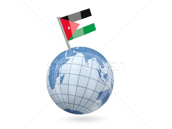 Globe with flag of jordan Stock photo © MikhailMishchenko