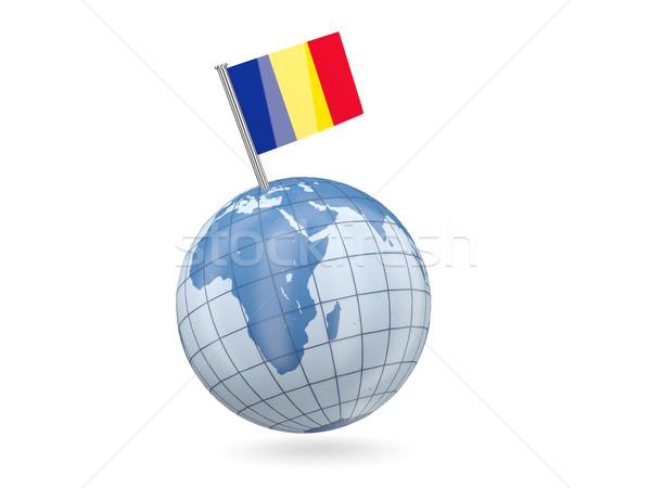 Globe with flag of romania Stock photo © MikhailMishchenko