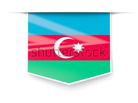 Icon Azerbeidzjan geïsoleerd witte mail Stockfoto © MikhailMishchenko