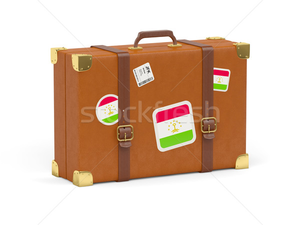 Suitcase with flag of tajikistan Stock photo © MikhailMishchenko