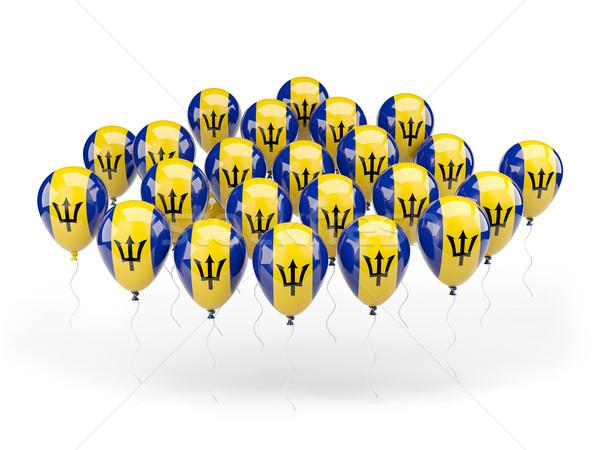 Ballonnen vlag Barbados geïsoleerd witte land Stockfoto © MikhailMishchenko