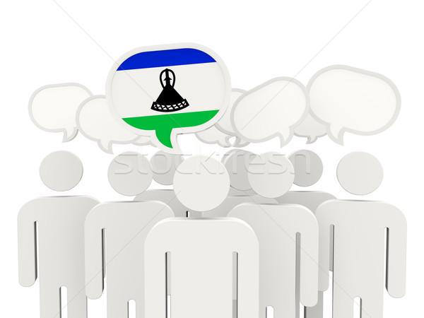 люди флаг Лесото изолированный белый заседание Сток-фото © MikhailMishchenko