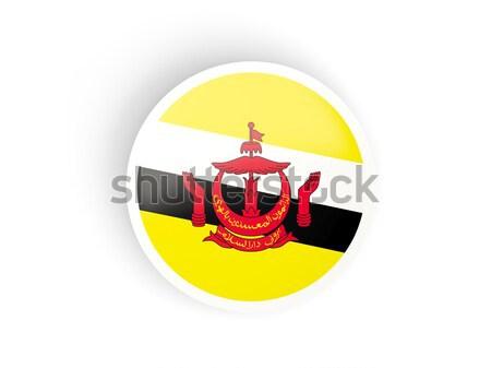 Icon vlag Brunei geïsoleerd witte reizen Stockfoto © MikhailMishchenko